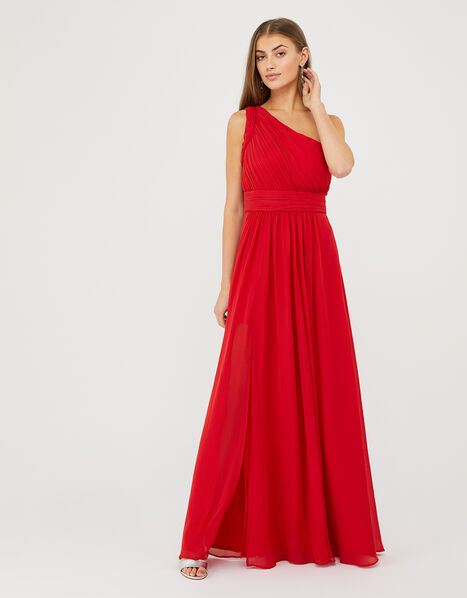 Dani One-Shoulder Maxi Dress Red, Red (RED), large