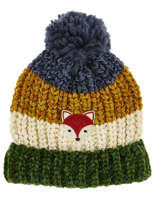 Jake Stripe Chenille Pom-Pom Hat, Multi (MULTI), large