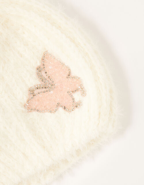 Dazzle Butterfly Beanie, Ivory (IVORY), large