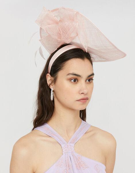 Ulla Underbrim Bow Disc Fascinator Pink, Pink (BLUSH), large