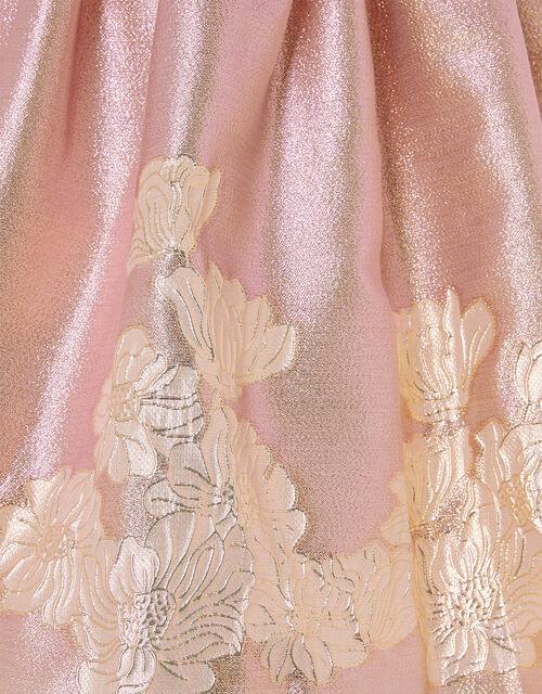 Ombre Border Jacquard Dress, Pink (PINK), large