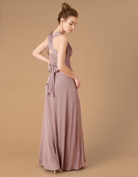 Tallulah Twist Me Tie Me Jersey Bridesmaid Dress Brown, Brown (MOCHA), large