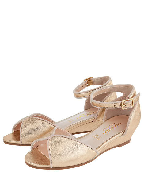 Dawn Shimmer Wedge Shoes Gold, Gold (GOLD), large
