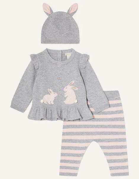 Newborn Bunny Knit Set Pink, Pink (PINK), large