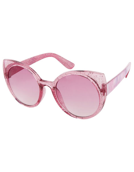 Glitter Tie-Dye Cat Eye Sunglasses, , large