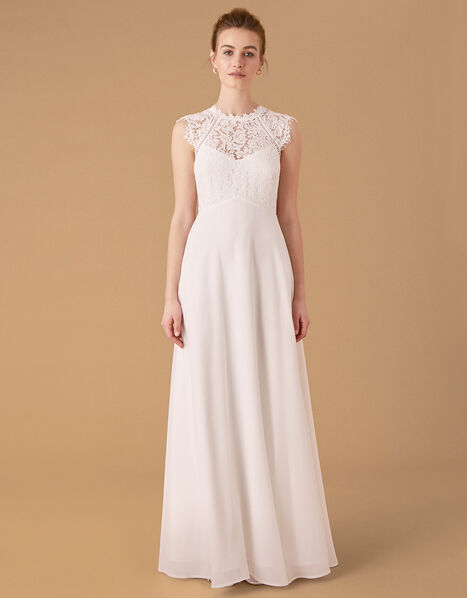 Lilian Lace Bodice Bridal Dress Ivory, Ivory (IVORY), large