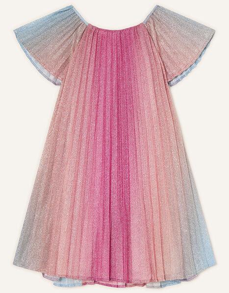 Rainbow Shimmer Pleated Dress Multi, Multi (MULTI), large