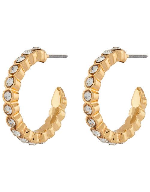 Diamante Small Hoop Earrings, , large