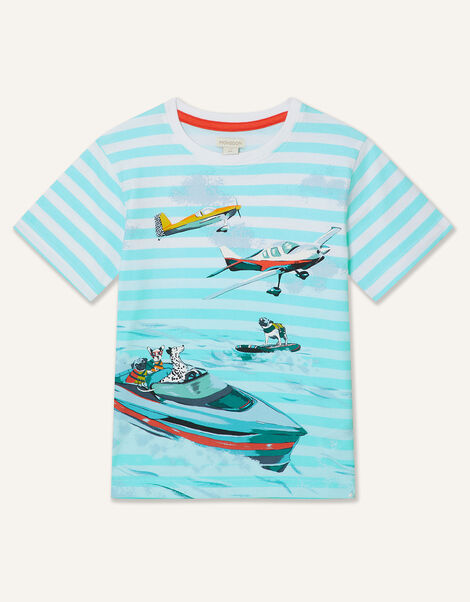 Boat Stripe T-Shirt Blue, Blue (BLUE), large