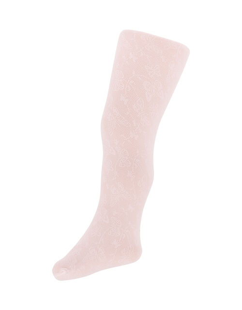 Baby Butterfly Lacey Tights, Pink (PINK), large