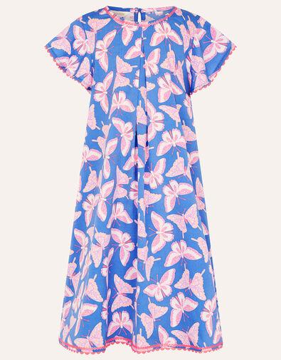 Butterfly Swing Dress Blue, Blue (BLUE), large