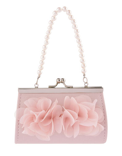 Ruffle Bow Mini Bag , , large