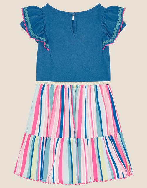 Fiesta Stripe 2-in-1 Dress, Blue (BLUE), large