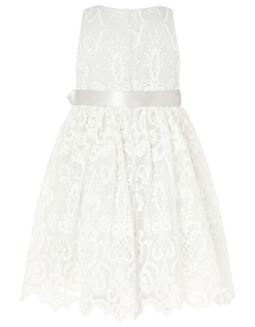 Embroidered Lace Dress, Grey (GREY), large