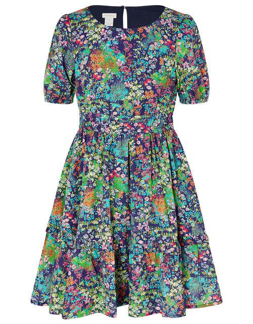 Wild Flower Dress, Blue (NAVY), large