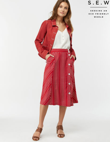 Itria Printed Midi Skirt Red, Red (RED), large