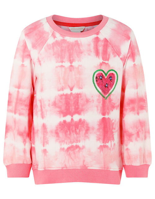 Tie Dye Watermelon Sweatshirt , Pink (PINK), large