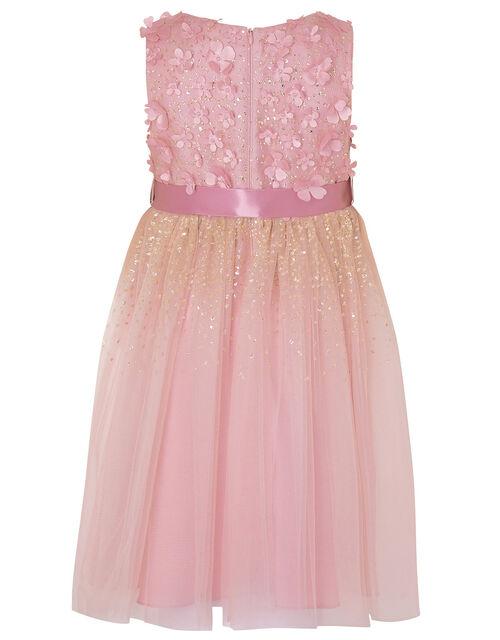 Alison Floral Glitter Dress, Pink (DUSKY PINK), large