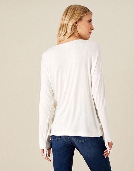 Plain Long Sleeve Top Ivory, Ivory (IVORY), large