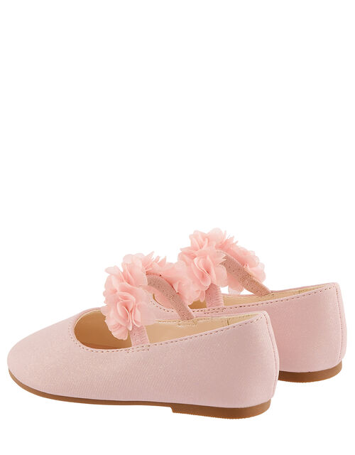 Baby Cynthia Corsage Walker Shoes, Pink (PINK), large
