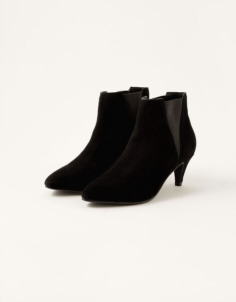 Serenity Suede Point Ankle Boots Black, Black (BLACK), large