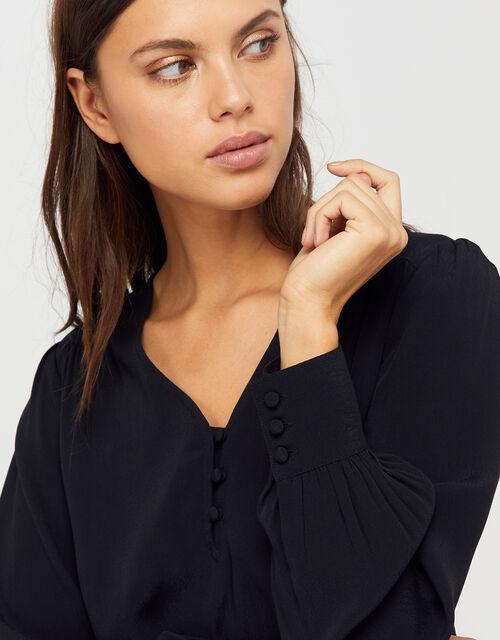 Tiffany Blouse, Black, large