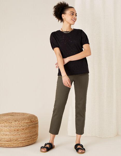 Petunia Animal Jersey T-Shirt Black, Black (BLACK), large