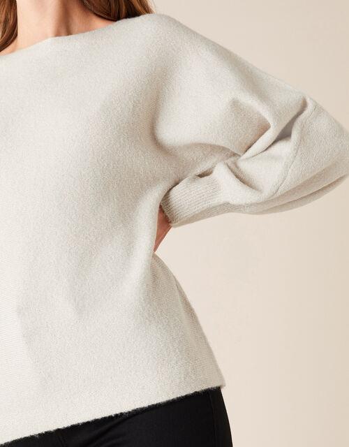 Shimmer Knit Jumper, Silver (SILVER), large