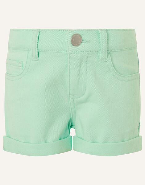 Denim Shorts Blue, Blue (AQUA), large