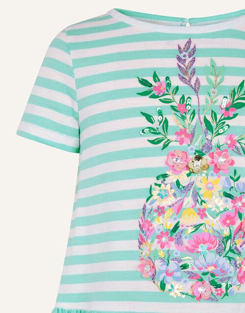 Sequin Pineapple T-Shirt , Green (GREEN), large
