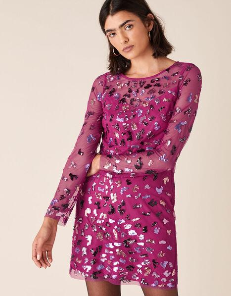Eugiene Sequin Tunic Dress Pink, Pink (PINK), large