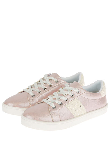 Shimmer Glitter Trainers Pink, Pink (PINK), large
