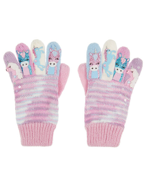 Magical Unicorn Knit Gloves Multi, Multi (MULTI), large
