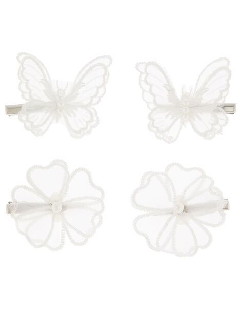 Organza Hair Clip Set, , large