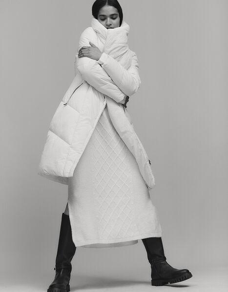 Dhalia Long Padded Coat White, White (WHITE), large