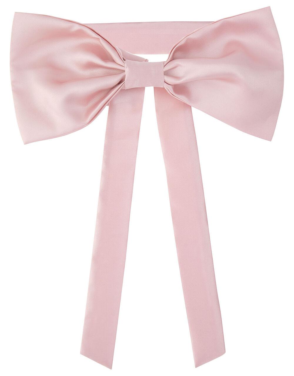 BRIDESMAID Duchess Twill Bow and Sash , Pink (PINK), large