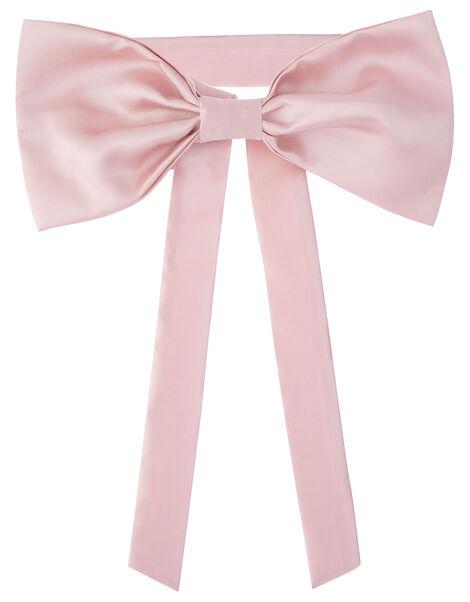 BRIDESMAID Duchess Twill Bow and Sash  Pink, Pink (PINK), large