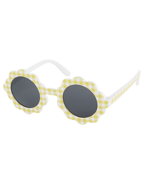 Baby Gingham Flower Sunglasses, , large