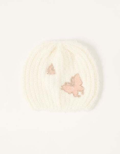 Dazzle Butterfly Beanie Ivory, Ivory (IVORY), large