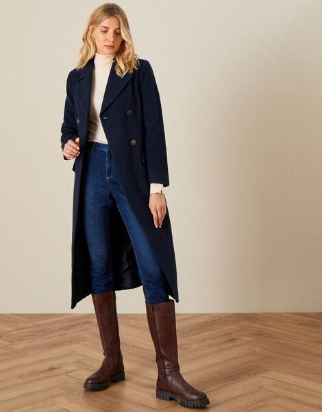 Jamie Military Coat Blue, Blue (NAVY), large