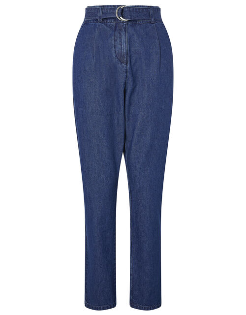 Bettie Tapered Denim Trousers, Mid Authentic Blue, large