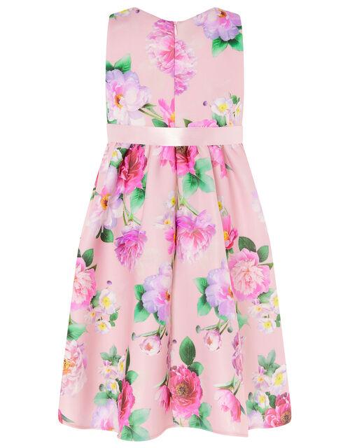 Floral Sleeveless Scuba Dress , Pink (PINK), large