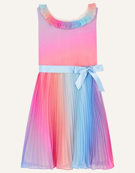 Rainbow Ombre Pleated Dress Multi, Multi (MULTI), large