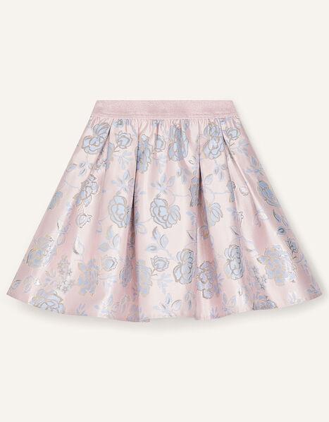 Vivien Floral Jacquard Skirt Pink, Pink (PINK), large