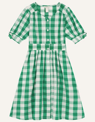 MINI ME Amina Gingham Dress Green, Green (GREEN), large