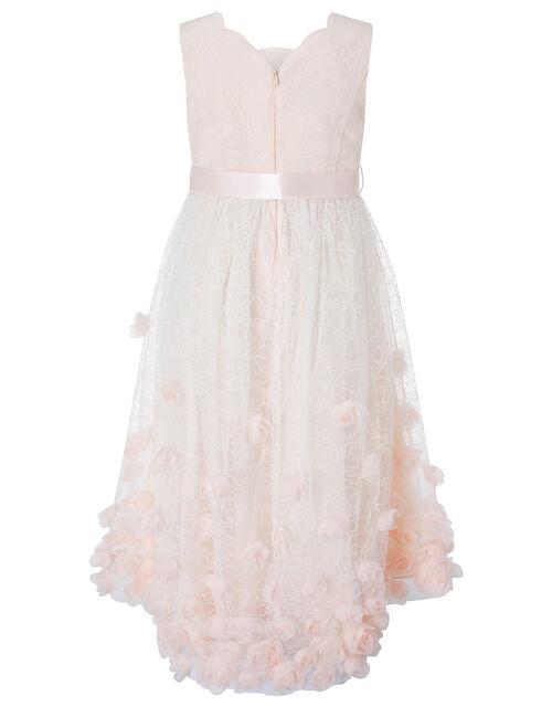 Lace 3D Flower Dress, Orange (PEACH), large