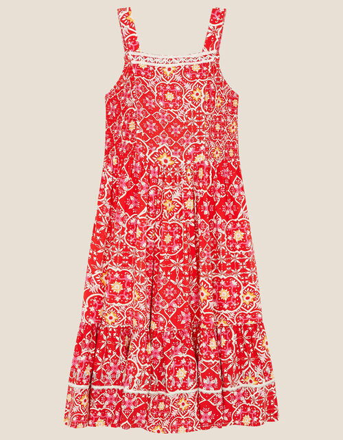 MINI ME Ebony Printed Sundress, Red (RED), large
