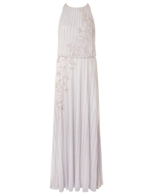 ARTISAN Summer Beaded Floral Dress, Purple (LILAC), large