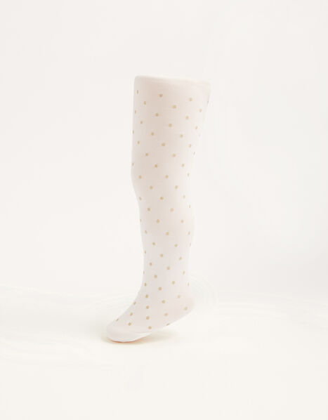 Baby Glitter Spot Tights Gold, Gold (GOLD), large