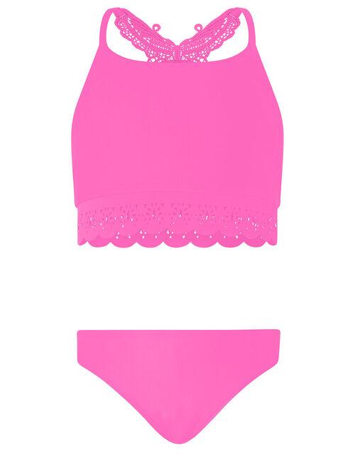 Butterfly Laser-Cut Bikini Set, Pink (PINK), large